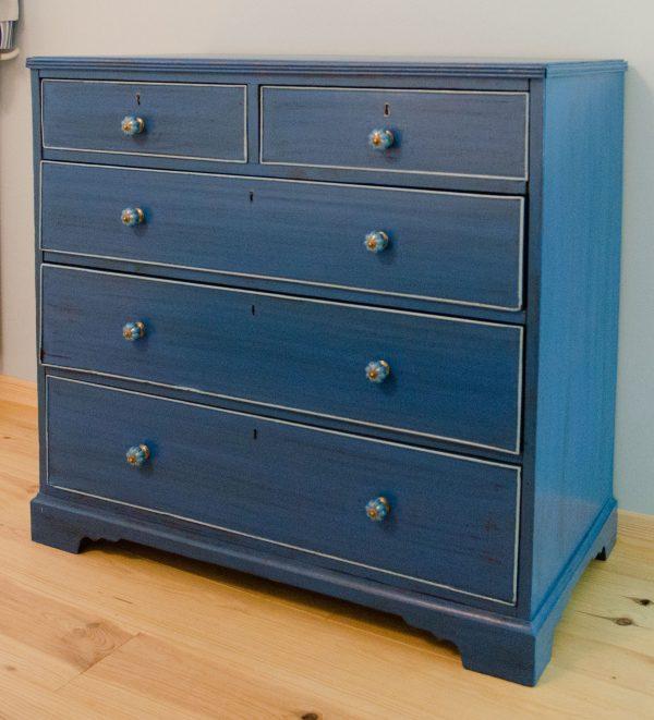 meuble-tiroir-patine-bleu